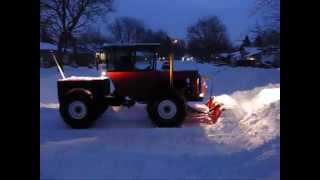 getlinkyoutube.com-Homemade Tractor Plowing After Another Snow Storm