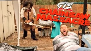 LEATHERFACE ATTACKS HOSTAGE WITH CHAINSAW! SHOCKING GTS U.S. CHAMPIONSHIP WRESTLING MATCH!