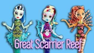 getlinkyoutube.com-Monster High Mermaid | Great Scarrier Reef Frankie, Toralei, & Lagoona | Doll Reviews