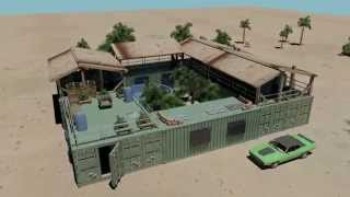 getlinkyoutube.com-mini compound shipping container house pool