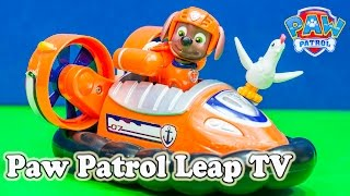 getlinkyoutube.com-PAW PATROL Nickelodeon Paw Patrol Zuma Leap Tv Game a Paw Patrol Video Toy Review