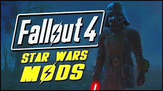 Fallout 4 Mods & Funny Moments | STAR WARS LIGHTSABER & DARTH VADER MOD!
