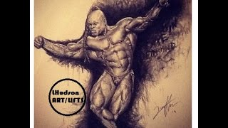 getlinkyoutube.com-LHudsonART/LIFTS: Kai Greene drawing timelapse!!