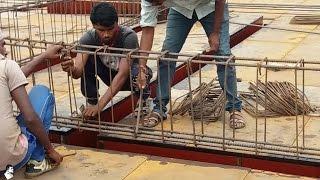 getlinkyoutube.com-Installation of Rebar / Reinforcement Steel Bars for Beam – On Site Fixing of Reinforcement