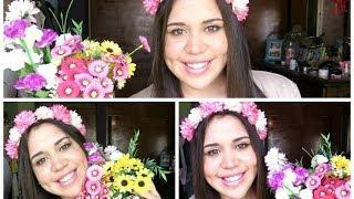 getlinkyoutube.com-DIY: Cómo hacer una corona de flores