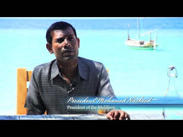 President Mohamed Nasheed at the SLOW LIFE Symposium