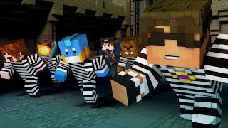 getlinkyoutube.com-Minecraft Mini-Game: TEAM CRAFTED COPS N ROBBERS! (MITCH'S BIRTHDAY) /w Facecam