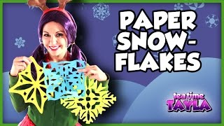 Paper Snowflakes - Arts and Crafts for Children