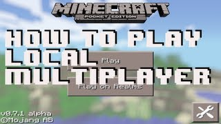 Minecraft Pocket Edition - How to Play Local Multiplayer