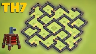 getlinkyoutube.com-Clash of clans - Town hall 7 (Th7) Hybrid base [The hallucination] 2015