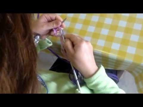 Lavoro ai ferri: esecuzione sciarpa a rete parte1 (fase iniziale)
