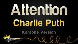 Charlie Puth - Attention (Karaoke Version) width=