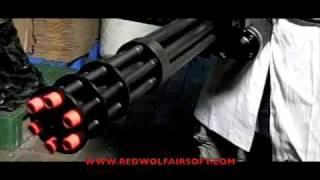 getlinkyoutube.com-Redwolf Labs: Vulcan M134 Minigun VS Watermelon - RedWolf Airsoft - RWTV