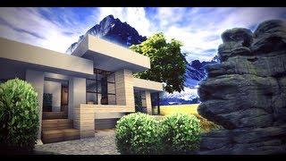 Tiny Modern House Minecraft minecraft - small modern house - youtube