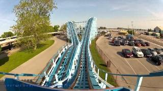 Blue Streak On-ride Front Seat (HD POV) Cedar Point view on youtube.com tube online.