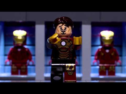 Lego Tony Stark tests his new suit