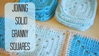 CROCHET: How to join solid granny squares | Bella Coco