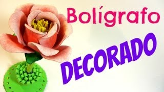 getlinkyoutube.com-Como decorar un bolígrafo con goma eva. Decorated pen.