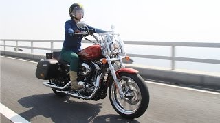 getlinkyoutube.com-小柄な女性ライダーにもピッタリ HARLEY-DAVIDSON XL1200T SUPER LOW