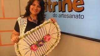 getlinkyoutube.com-Tapete Prático com Flores com Glaucia Tamiossi | Vitrine do Artesanato na TV