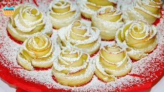 getlinkyoutube.com-Ну, оОчень вкусный Десерт - Розочки из Слоеного теста!
