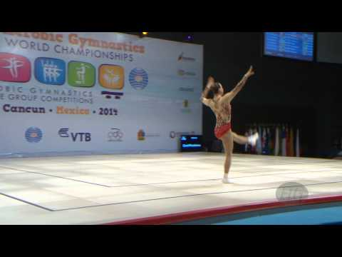 GAZOV Lubov (AUT) -- 2014 Aerobic Worlds, Cancun (MEX), Qualifications -- We are Gymnastics !