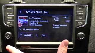 getlinkyoutube.com-HTC MirrorLink inside the 2015 VW Golf GTI