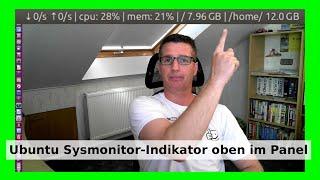 getlinkyoutube.com-Ubuntu Upload Download Geschwindigkeit Speed Indikator - Unity Desktop [Deutsch/German] - WLBI