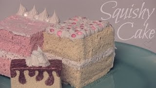 getlinkyoutube.com-Squishy Cake Slice - How To - Homemade Squishies!