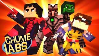 getlinkyoutube.com-Minecraft: UM DIA DE SUPER-HERÓI! (Chume Labs 2 #17)