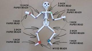 getlinkyoutube.com-Paper & Plastic Bead Skeleton Marionette Part 1