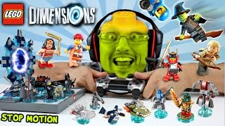 getlinkyoutube.com-LEGO Dimensions Fun Packs Stop Motion Build & In-Game Fun! (Let's Build Wave 1 Skit)