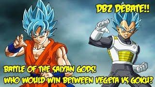 getlinkyoutube.com-Who Would Win The Battle Of The Saiyan Gods? GOKU VS VEGETA | Dragon Ball Z Resurrection F Debate!!!