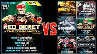 getlinkyoutube.com-Real Steel WRB RED BERET ROBOTS Series of fights NEW ROBOT (Живая Сталь)