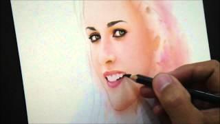 Kristen Stewart Soft Pastel Portrait:The making by Macky Bongabong (time lapse)