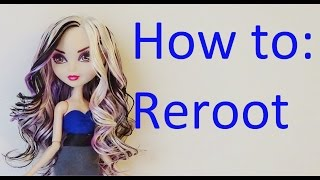 getlinkyoutube.com-Doll Hair Tutorial: Reroot your Ever After High dolls by EahBoy