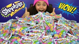 getlinkyoutube.com-250 Shopkins Season 4 Blind Bags Opening | Mega Toy Haul | Kids Toy Review