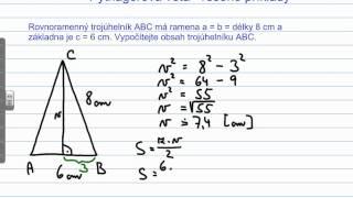 Pythagorova věta - příklad 1