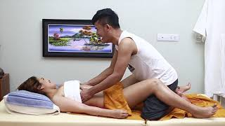 Korean Abdominal Massage Therapy Techniques for Glowing Skincare Routine and Relieving Stress