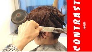 getlinkyoutube.com-動くヘアカタログ ツーブロックCUT 刈り上げの仕方 襟の処理の仕方 ノーカット版 木村カエラちゃん風 ヘアスタイル