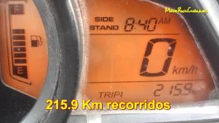 getlinkyoutube.com-Rendimiento de combustible Pulsar 200NS 2da prueba