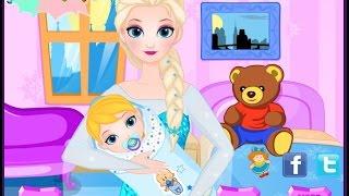 getlinkyoutube.com-เกมส์เอลซ่าท้อง คลอดลูก เลี้ยงลูก : Frozen 2 QUEEN ELSA GIVE BIRTH TO A BABY GIRL