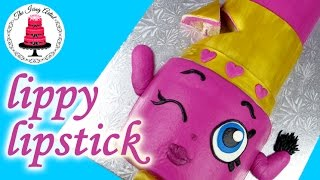 getlinkyoutube.com-Easy Lippy Lips Lipstick Shopkins Character Cake - How To With The Icing Artist