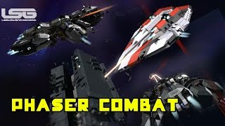 getlinkyoutube.com-Space Engineers - Phasers and Disruptor Combat , Mega Ship Warfare