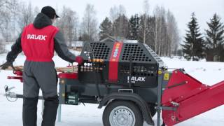 getlinkyoutube.com-Palax Active Firewood processor / Klapikone