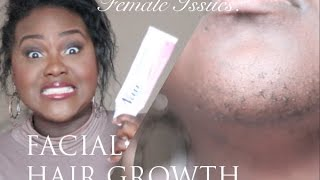 Female Issues: Excess Facial Hair Growth | PCOS | My Facial Hair Routine | Chanel Boateng
