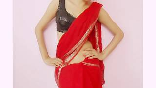 getlinkyoutube.com-Jawani Deewani Saree Wearing Style-Sari Wraping Video Tutorial/How To Drape Saari