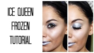 getlinkyoutube.com-FROZEN ICE QUEEN halloween makeup tutorial | Beauty's Big Sister