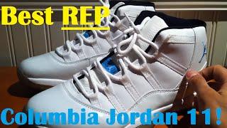 "getlinkyoutube.com-The BEST Rep Columbia Jordan 11 - ""23 fix"" Legend blue jordan 11"