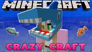 getlinkyoutube.com-Minecraft: CRAZY CRAFT 3.0 - BUILDING A SHARK SUIT!